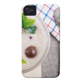 Top view of a healthy dish of oatmeal in a bowl Case-Mate iPhone 4 case