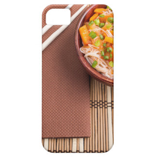 Top view of an Asian dish of rice noodle iPhone 5 Cases
