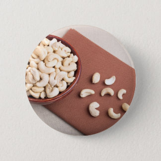 Top view of breakfast for raw foodists 6 cm round badge