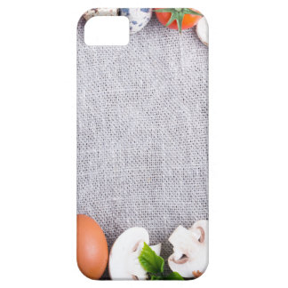 Top view of the food ingredients in the form iPhone 5 cover