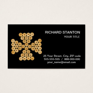 Top view of the hunt cartridges business card