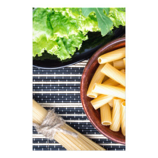 Top view of the ingredients for cooking food personalized stationery
