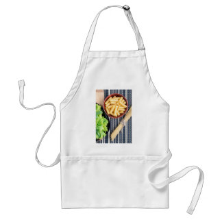 Top view of the spaghetti, pasta and lettuce standard apron