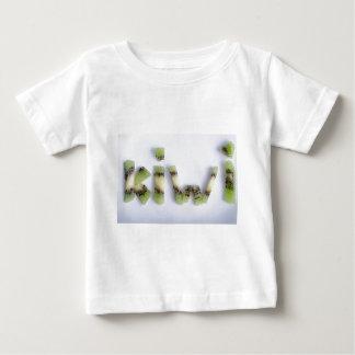 Top view of the word kiwi closeup
