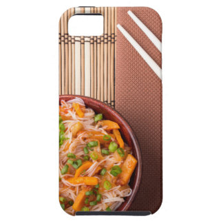 Top view on a portion of rice vermicelli hu-teu tough iPhone 5 case