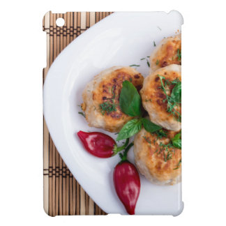 Top view on food made from natural ingredients case for the iPad mini