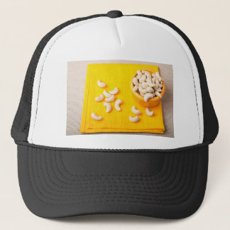 Top view on natural and healthy cashews trucker hat