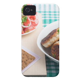 Top view on russian homemade lunch on a table iPhone 4 cases