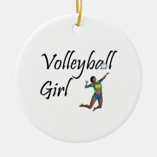 TOP Volleyball Girl Ceramic Ornament