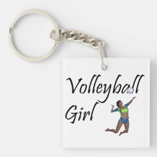 TOP Volleyball Girl Key Ring