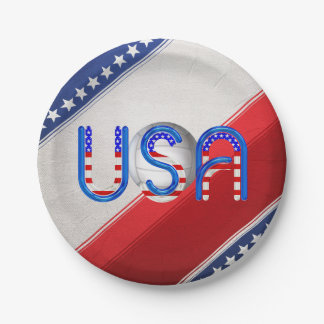 TOP Volleyball in the USA Paper Plate