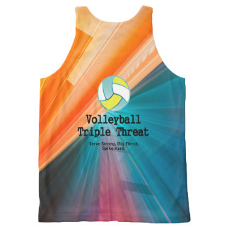 TOP Volleyball Triple Threat All-Over Print Tank Top
