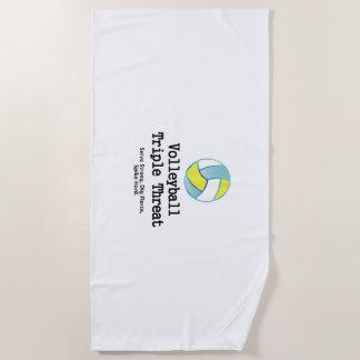 TOP Volleyball Triple Threat Beach Towel
