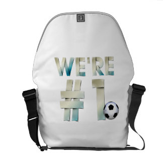 TOP We're #1 Soccer Courier Bag