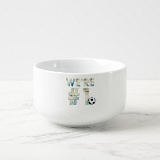 TOP We're #1 Soccer Soup Mug