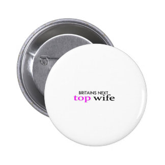 top wife 6 cm round badge