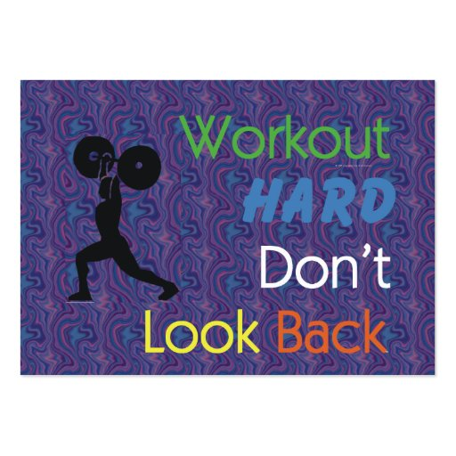 TOP Workout Hard Pack Of Chubby Business Cards