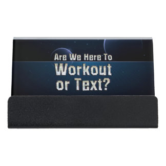 TOP Workout or Text Desk Business Card Holder