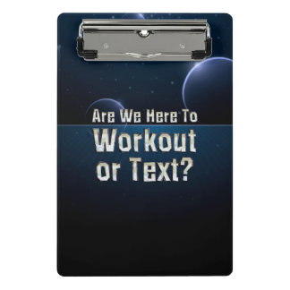 TOP Workout or Text Mini Clipboard