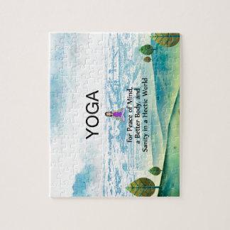 TOP Yoga Slogan Jigsaw Puzzle