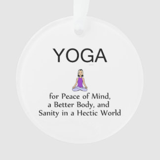 TOP Yoga Slogan Ornament
