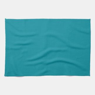 Topaz Blue Personalized Aqua Teal Color Background Tea Towel