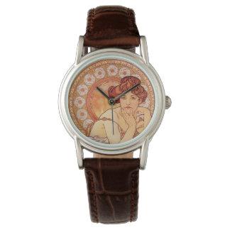 Topaz by Alphonse Mucha Wrist Watches