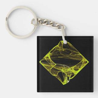 Topaz Diamond Single-Sided Square Acrylic Keychain