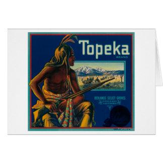 Topeka Brand Citrus Crate Label Card