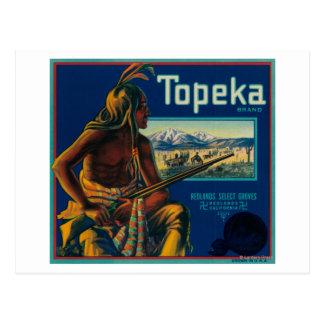 Topeka Brand Citrus Crate Label Postcard