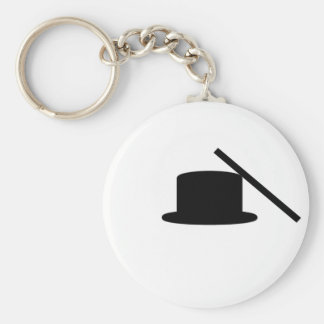 Tophat And Wand Basic Round Button Key Ring