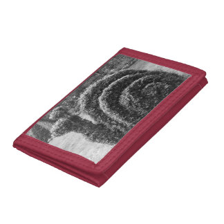 Topiary black and white ornamental garden snail trifold wallets