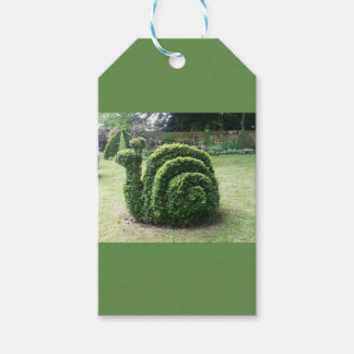 Topiary garden green fun snail gift tags