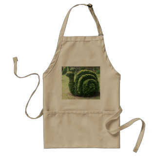 Topiary garden snail craft / cooking apron