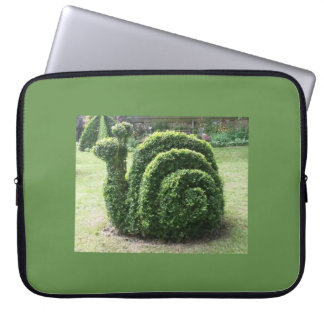 Topiary garden snail fun unusual quirky laptop sleeve