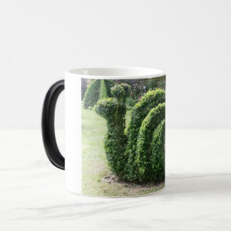 Topiary garden snail green clipped bush magic mug