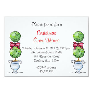 Topiary Holiday Invitation