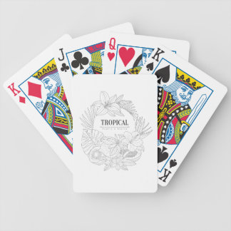 Topical Fruits And Plants Logo Bicycle Playing Cards