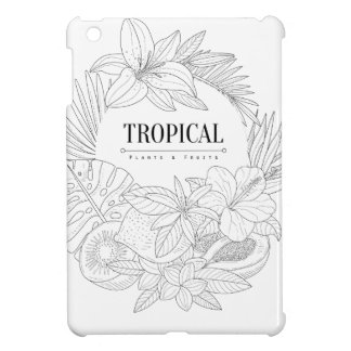 Topical Fruits And Plants Logo Cover For The iPad Mini