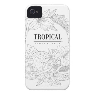 Topical Fruits And Plants Logo iPhone 4 Case
