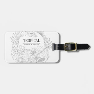 Topical Fruits And Plants Logo Luggage Tag