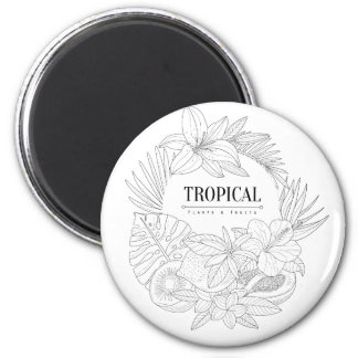 Topical Fruits And Plants Logo Magnet