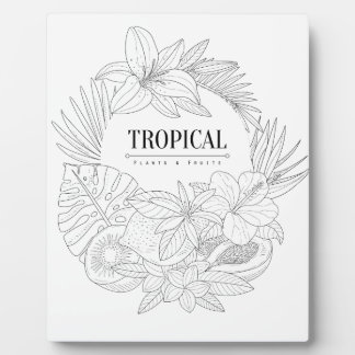 Topical Fruits And Plants Logo Plaque
