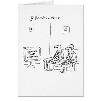 Topical Gender Gap Greetings Card