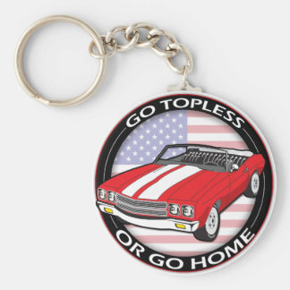 Topless or Go Home Key Ring