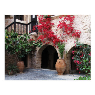 Toplou Monastery Churches courtyard CRETE GREECE Postcard