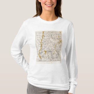 Topographic and Glacial Map of New Hampshire T-Shirt