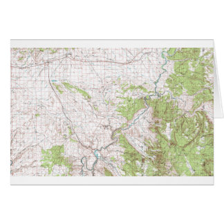Topographic Map Card