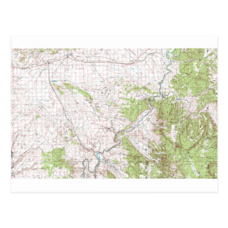 Topographic Map Postcard