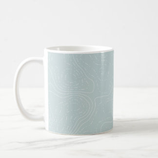 Topographic Pale Blue Mug